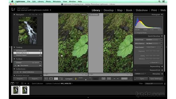 Doing the first pass on the waterfall in Lightroom: Photographing a Waterfall