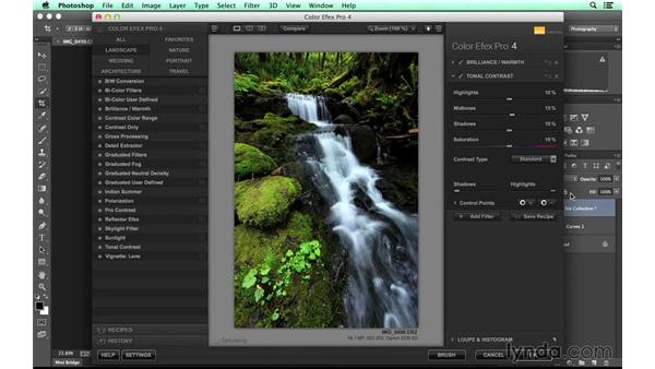 Finalizing the waterfall image in Photoshop: Photographing a Waterfall