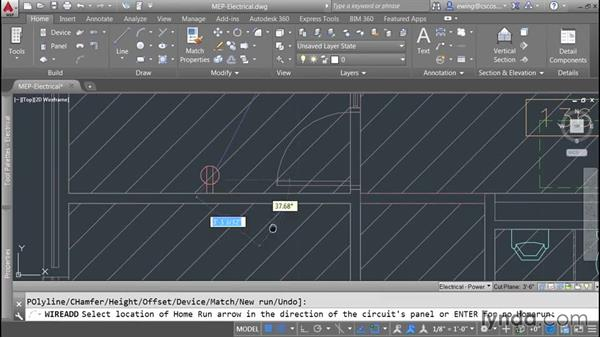 Adding wiring: AutoCAD MEP Essential Training