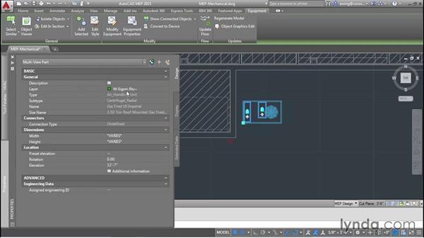 Adding a rooftop unit: AutoCAD MEP Essential Training