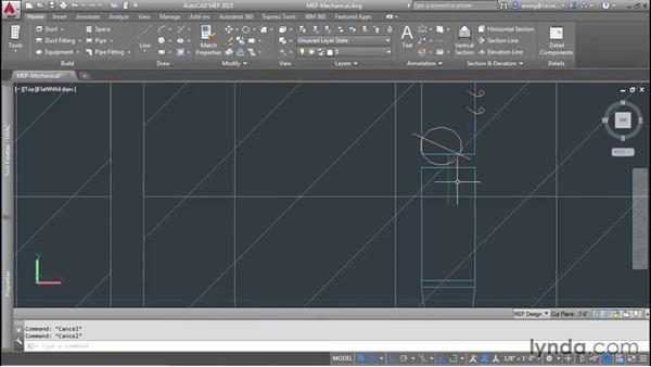 Adding dampers: AutoCAD MEP Essential Training