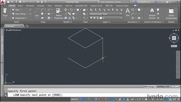 Creating 30-degree isometric drafts: AutoCAD MEP Essential Training