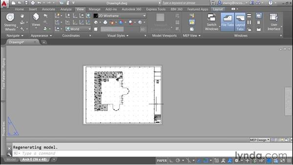Creating viewports and sheets: AutoCAD MEP Essential Training