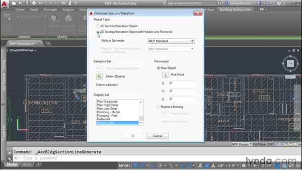 Creating a section: AutoCAD MEP Essential Training