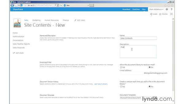 Adding a document library app: SharePoint 2013 for Site Champions and Power Users