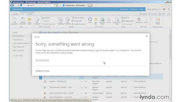 Restoring documents to previous versions: SharePoint 2013 for Site Champions and Power Users