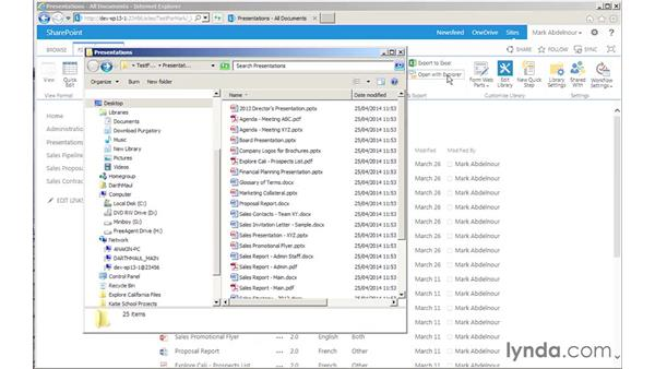 Downloading multiple files using Explorer: SharePoint 2013 for Site Champions and Power Users