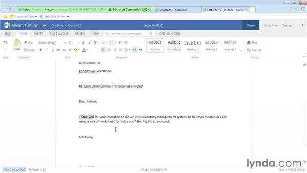 Entering and editing documents: Office Online Essential Training
