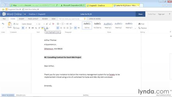 Applying font formatting: Office Online Essential Training