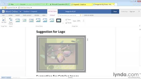 Inserting pictures and clip art: Office Online Essential Training