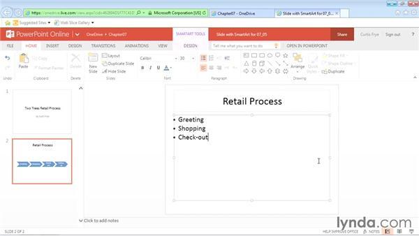 Inserting SmartArt: Office Online Essential Training