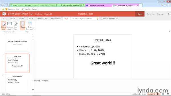 Adding slide notes: Office Online Essential Training