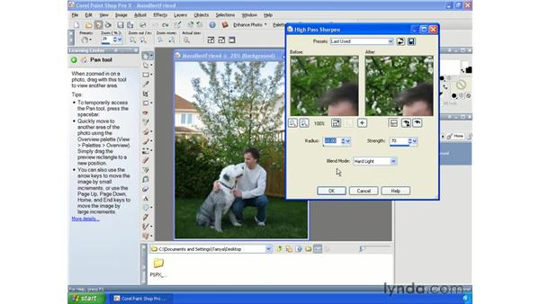 Sharpening images: Paint Shop Pro X Essential Training