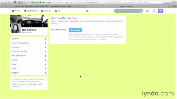 Requesting your Twitter archive: Monday Productivity Pointers