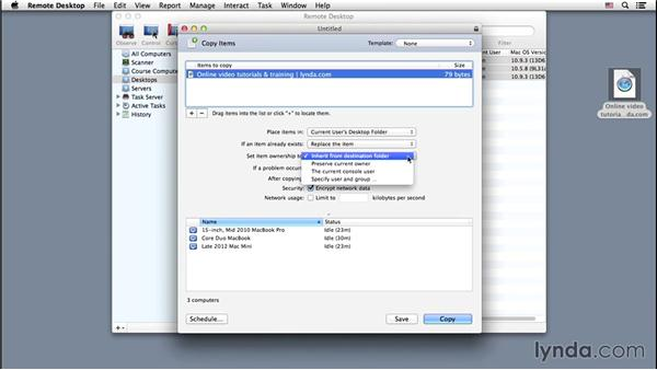 A one-to-many copy: Up and Running with Apple Remote Desktop