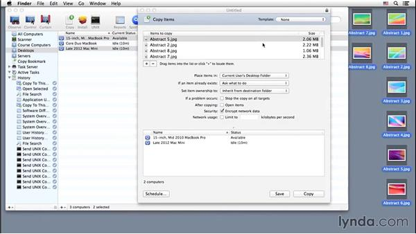 Moving found items: Up and Running with Apple Remote Desktop