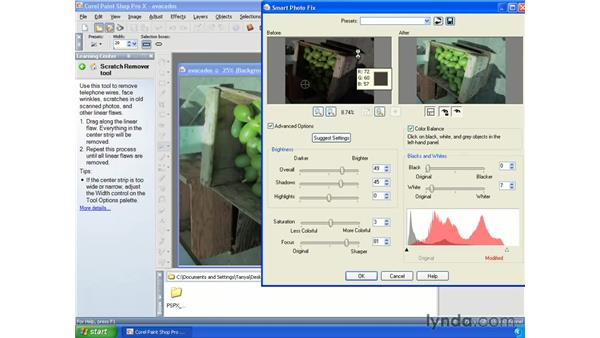 Opening and editing RAW files: Paint Shop Pro X Essential Training
