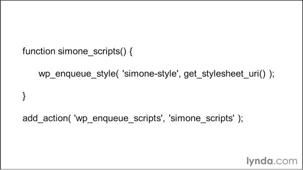 Enqueueing the main theme stylesheet: WordPress Developer Tips: Enqueuing Styles and Scripts