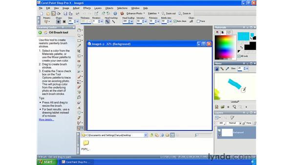 Mixing colors: Paint Shop Pro X Essential Training