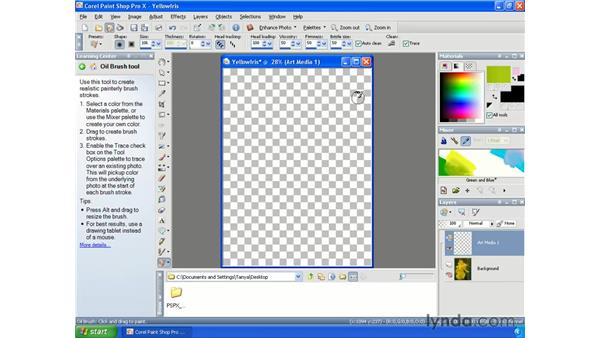 Creating paintings from photos: Paint Shop Pro X Essential Training