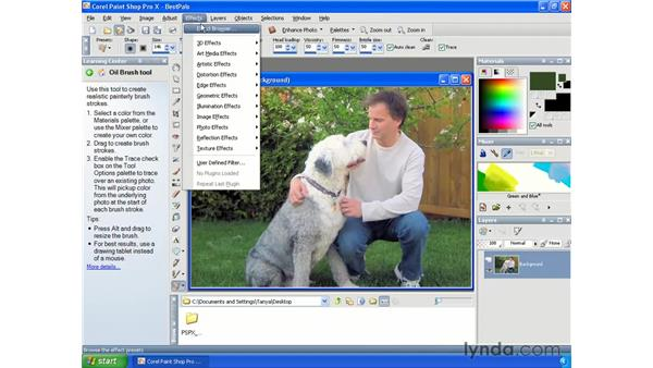 Creating black and white images: Paint Shop Pro X Essential Training