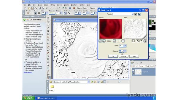 Creating drawings: Paint Shop Pro X Essential Training