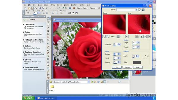 Creating paintings: Paint Shop Pro X Essential Training