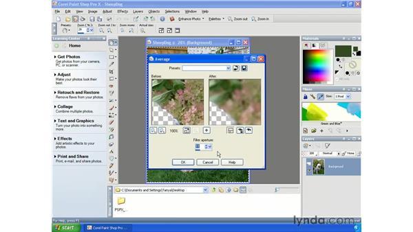 Simulating depth of field: Paint Shop Pro X Essential Training