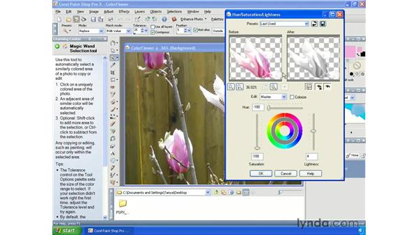 Changing the color of objects: Paint Shop Pro X Essential Training