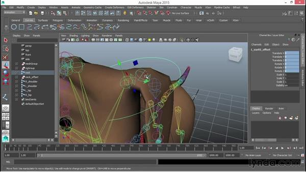 Rigging the head, neck, and ears: Rigging a Quadruped in Maya