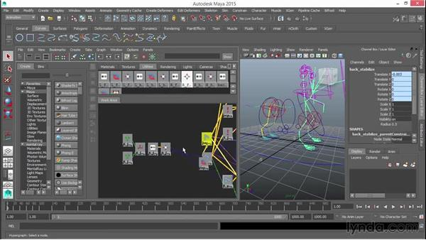 Switching leg stretch off and on: Rigging a Quadruped in Maya