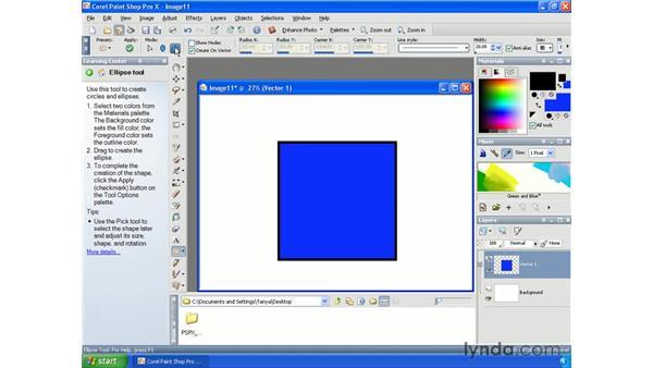 Using preset shapes: Paint Shop Pro X Essential Training