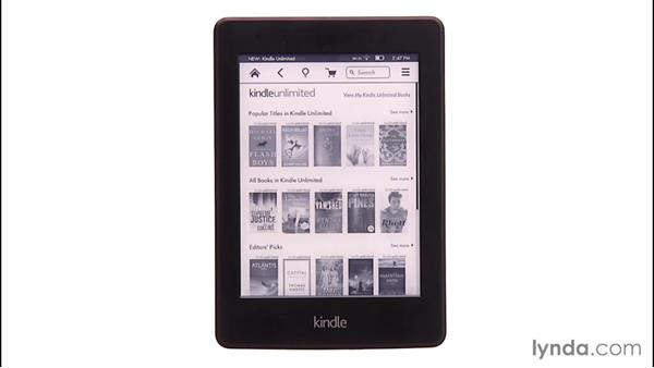 Using the Kindle Unlimited monthly membership: Up and Running with Kindle