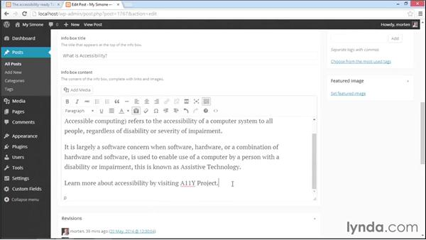 Adding content to fields in posts and pages: WordPress Plugins: Advanced Custom Fields