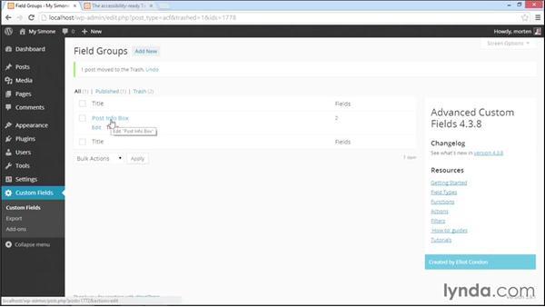 Adding contributors to a post: WordPress Plugins: Advanced Custom Fields