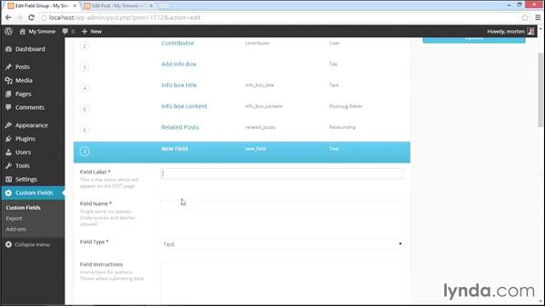 Using tabs and messages for a better user experience: WordPress Plugins: Advanced Custom Fields