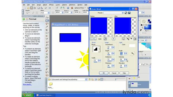 Applying effects: Paint Shop Pro X Essential Training