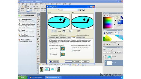 Optimizing GIFs: Paint Shop Pro X Essential Training