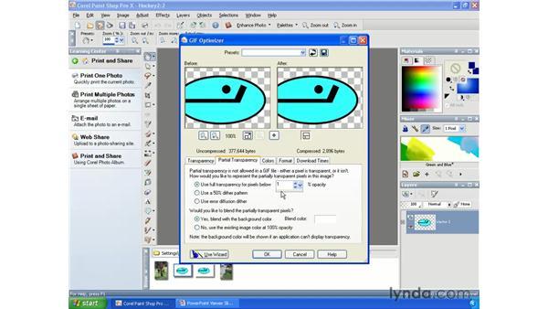 Optimizing Transparent GIFs: Paint Shop Pro X Essential Training