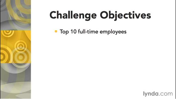 Challenge: Find the top ten employees: Access 2013: Queries in Depth