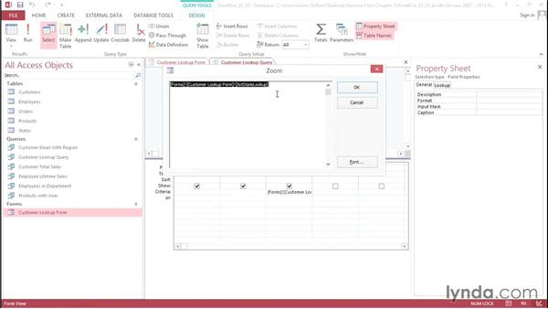 Creating a combo box: Access 2013: Queries in Depth