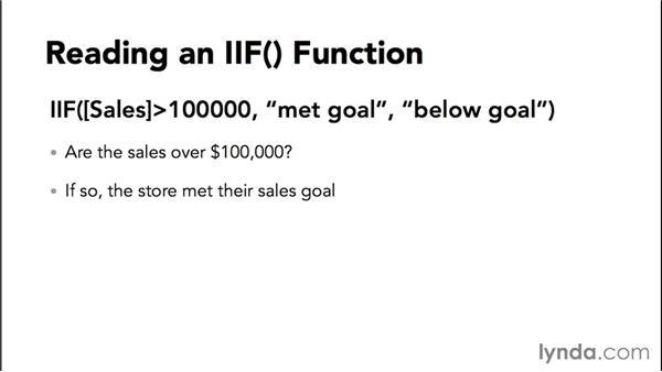 Introducing IIf: Access 2013: Queries in Depth