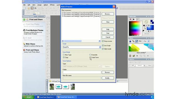 Batch processing: Paint Shop Pro X Essential Training