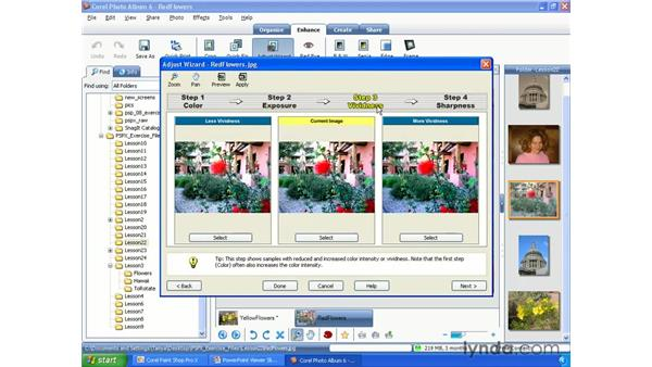 Fixing photos using the Adjust Wizard: Paint Shop Pro X Essential Training