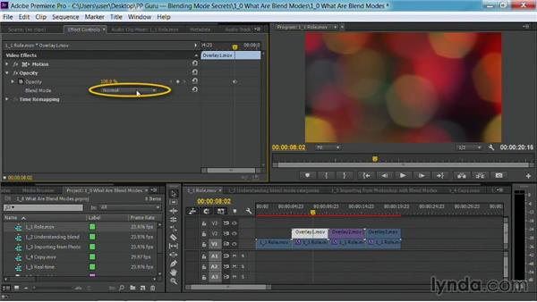 The role of blend modes: Premiere Pro Guru: Blending Mode Secrets