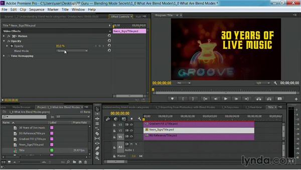 Importing from Photoshop with blend modes: Premiere Pro Guru: Blending Mode Secrets