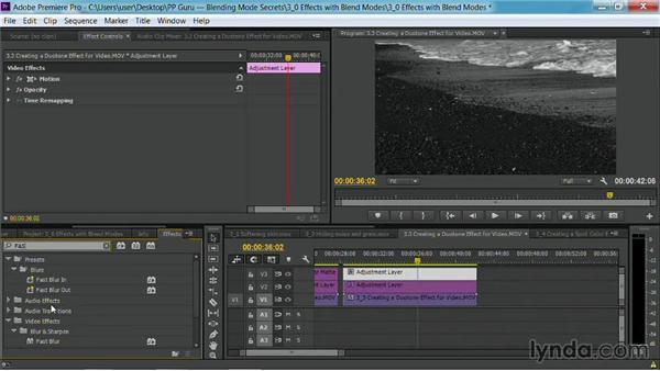 Creating a duotone effect for video: Premiere Pro Guru: Blending Mode Secrets