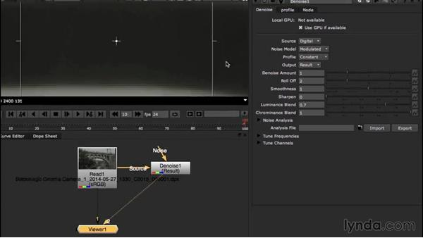 Managing noise in the background shot: VFX Techniques: Creating a CG Flag with Nuke X and CINEMA 4D
