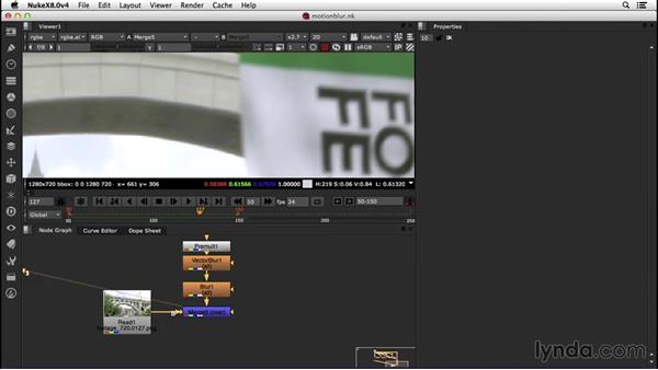 Adding motion blur with the motion vector pass: VFX Techniques: Creating a CG Flag with Nuke X and CINEMA 4D