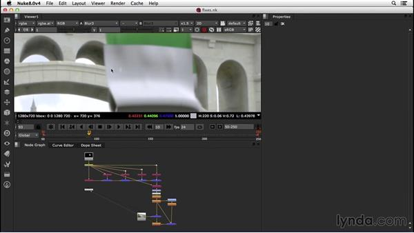 Addressing problems with quick fixes: VFX Techniques: Creating a CG Flag with Nuke X and CINEMA 4D